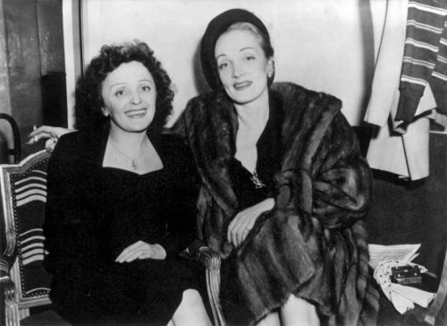 Hollywood dorado: Edith Piaf y Marlene Dietrich