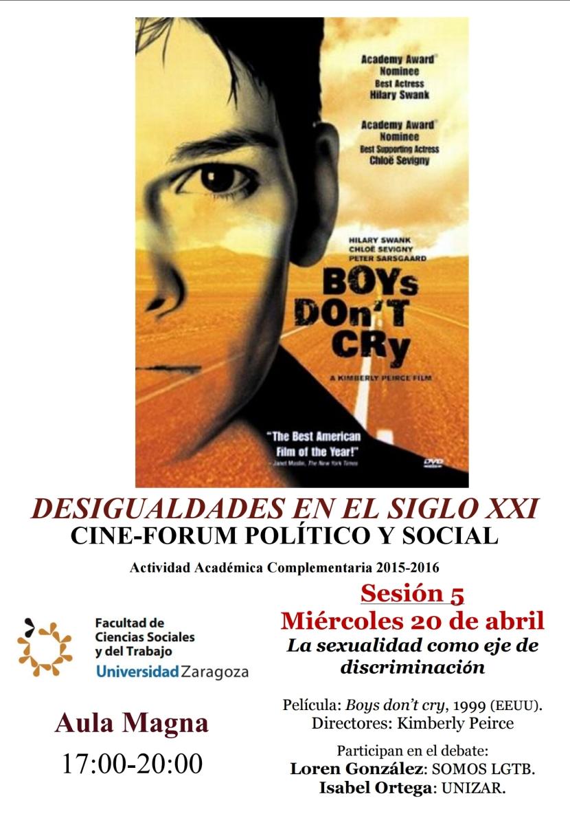 """Participamos en """"Desigualdades en el siglo XXI. Cine- forum político ysocial"""""""