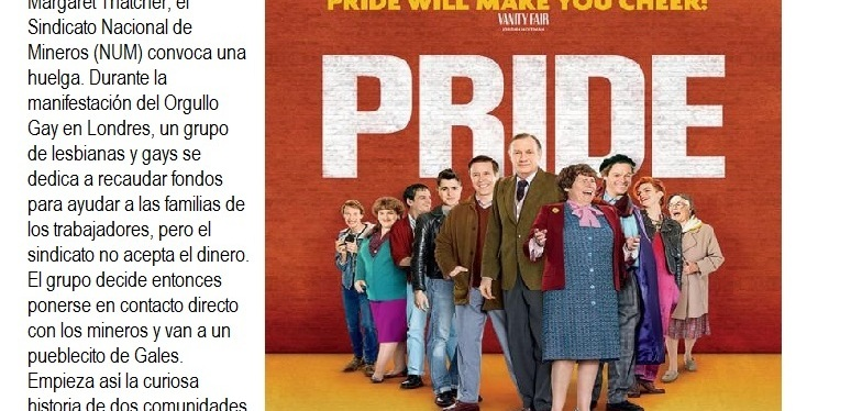 """""""PRIDE"""" nueva proyección del videoforum de SOMOSJóvenes"""
