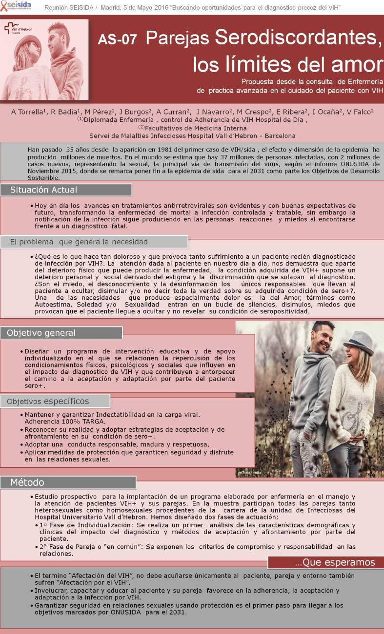 PAREJAS SERODISCORDANTES - LOS LÍMITES DEL AMOR