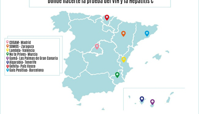 ¿Dónde puedo hacerme la prueba rápida en Aragón? Entidades de FELGTB que prestamos esteservicio