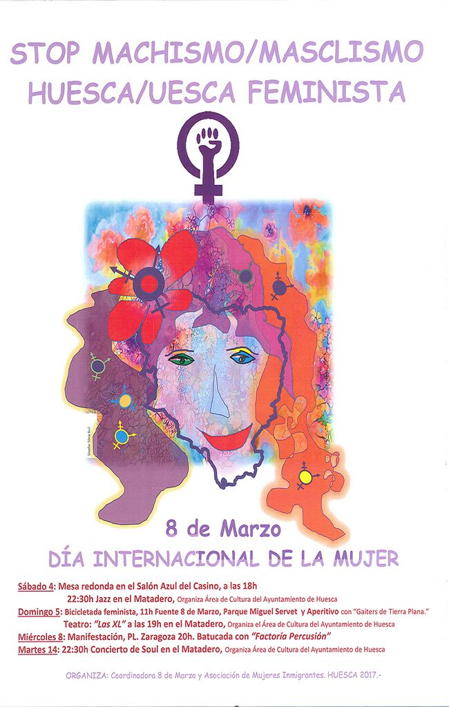 Actividades de la Coordinadora del #8M de Huesca en el día internacional de lamujer