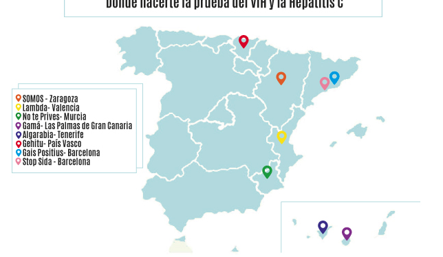 ¡Hazte la prueba de la Hepatitis C en una de las entidades deFELGTB!