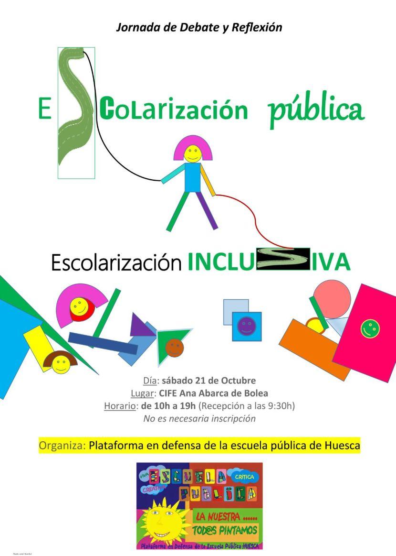 Este sábado participamos la Jornada de Debate y Reflexión sobre Escolarización Pública, EscolarizaciónInclusiva