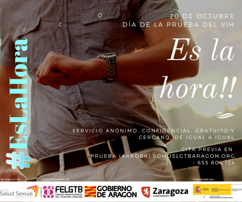 #EsLaHora 20 de octubre, día de la prueba delVIH