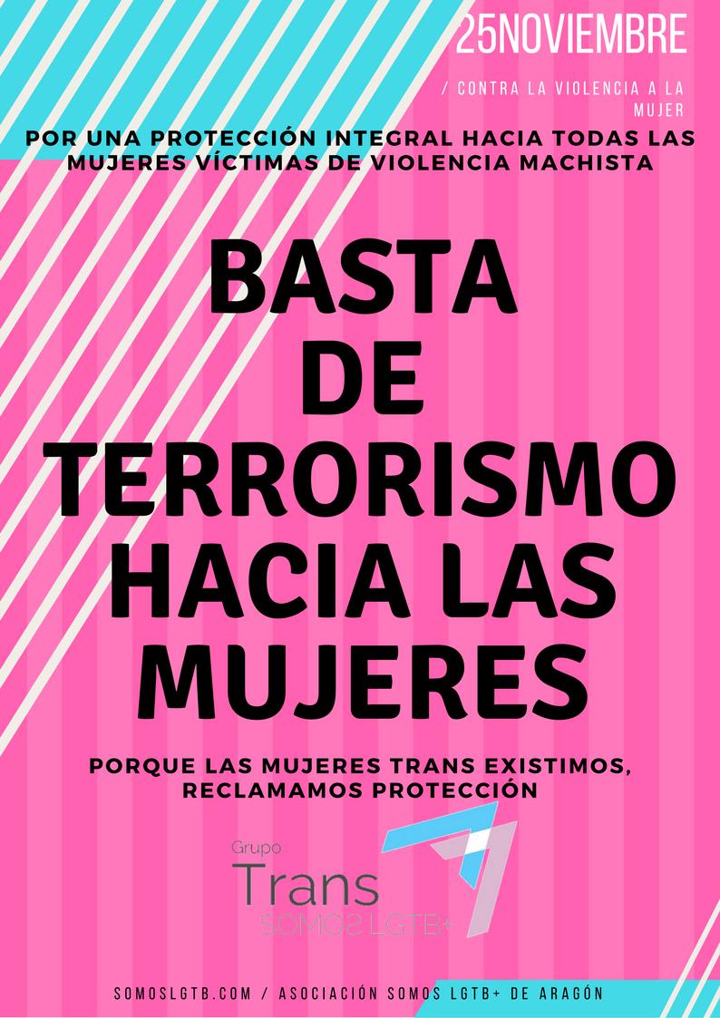 Este 25N grita más que nunca: Basta de terrorismo hacia lasmujeres