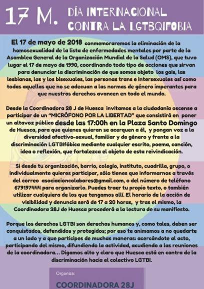 20180517 DÍA CONTRA LA LGTBIFOBIA - HUESCA 02
